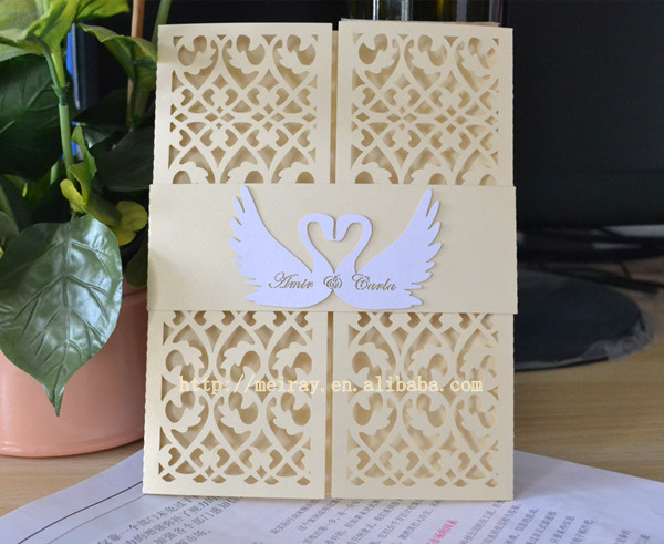 Laser Cut Wedding Invitations,romantic Love Swan Wedding Invitation  Covers In Cards U0026 Invitations From Home U0026 Garden On Aliexpress.com |  Alibaba Group