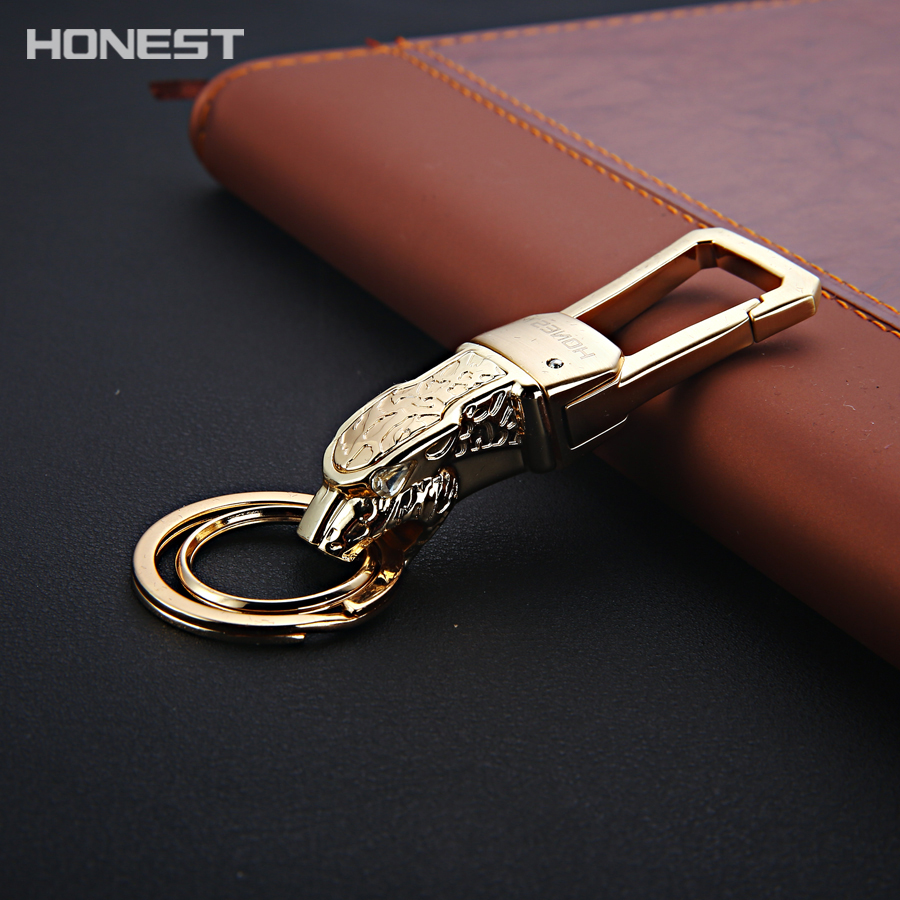 Brand HONEST Business Classics Men Keychains Gift Car Key Ring Holder Jewelry Key Chain High Grade Quality Bag Pendant
