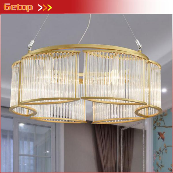 Post-modern Glass Light European Chandelier Nordic American Living room Restaurant Bedroom Round Creative LED Crystal Light цена и фото