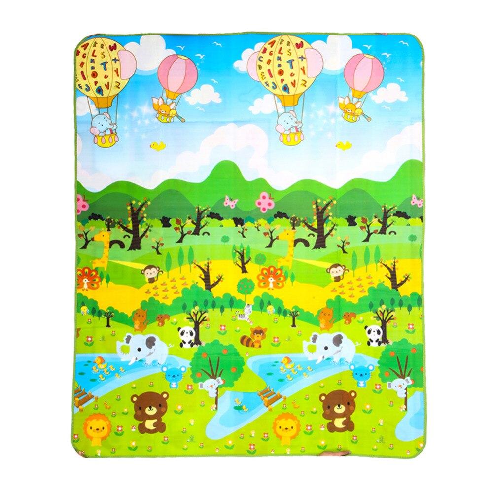 children 39 s rug forest river cartoon baby play mat tapete. Black Bedroom Furniture Sets. Home Design Ideas