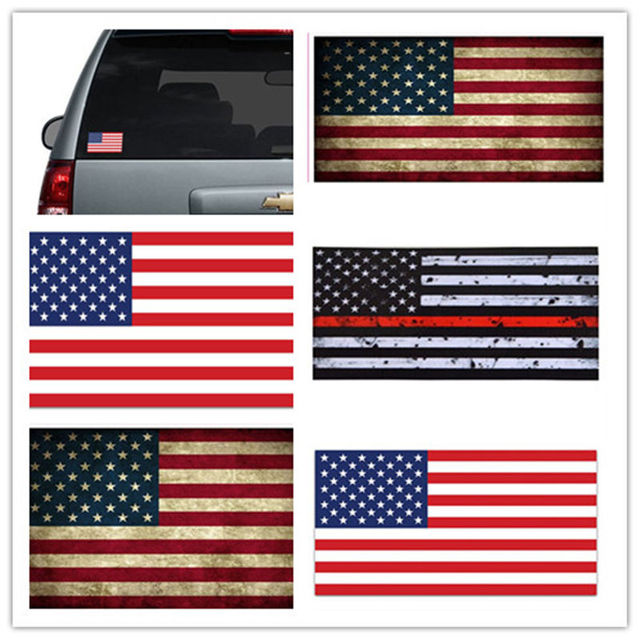 2 pcs thin red line american flag distressed fire vinyl helmet sticker usa flag new