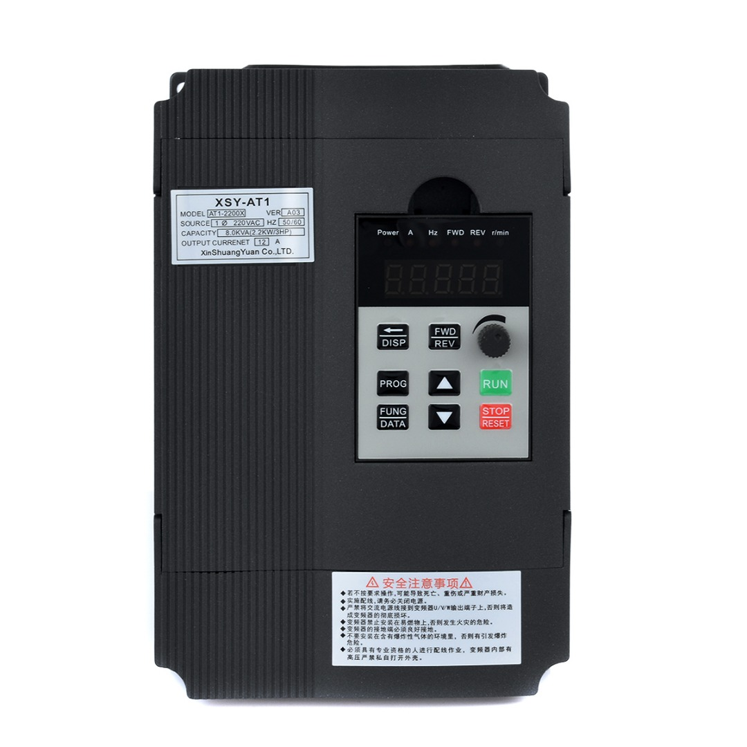 1pc 3HP Single Phase Variable Frequency Inverter Drive Inverter VSD VFD PWM Control 2.2KW 12A For Motor Speed Control Mayitr 1pc 2kw 3hp single phase variable frequency inverter drive inverter vsd vfd universal motor speed pwm control inverters mayitr