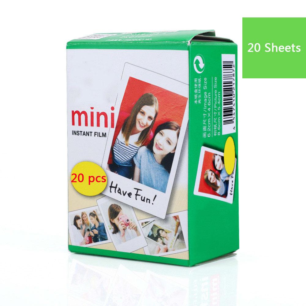 10-40 листов Fujifilm пленка белая пленка для Instax Mini Edge Фотобумага для цифровой фотокамеры Fuji Instax mini 8/фотоаппаратов моментальной печати 7 s/25/50/90 3 дюймов фотоальбом - Цвет: 20 Sheets