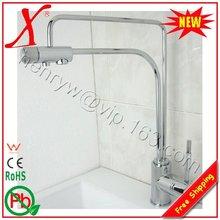 L16685-роскошный бортике хром Цвет латунь Материал 2 Функция смешивания воды и питьевой воды кухонный кран