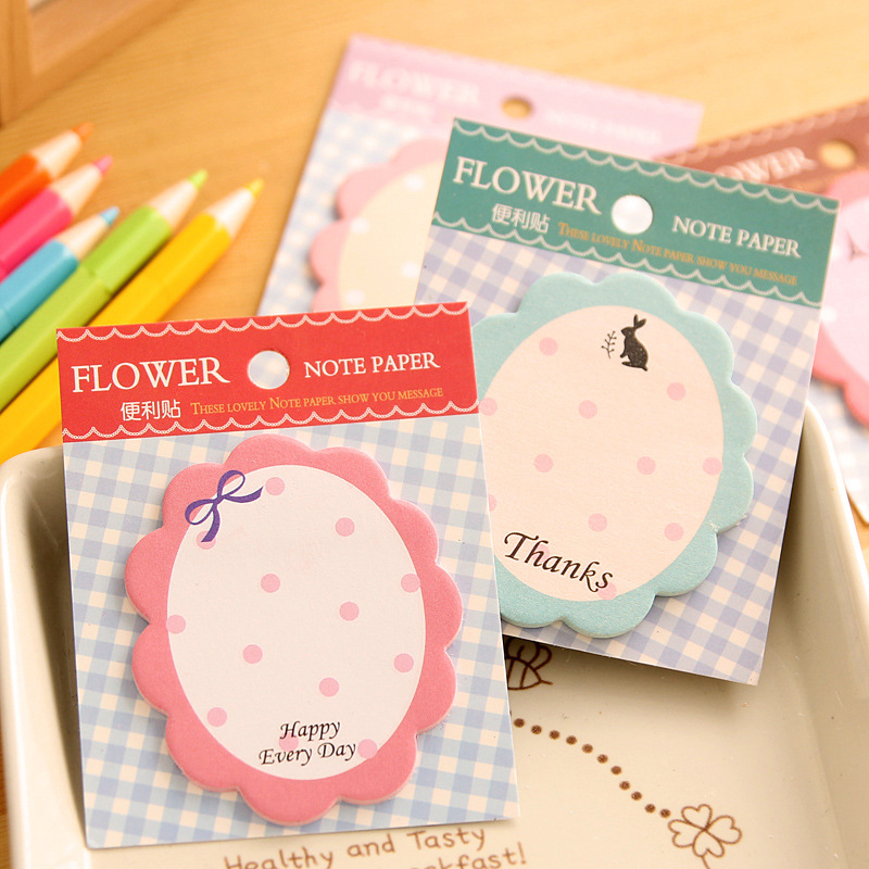 Cute Flowers Memo Pad Sticky Note Paper Scrapbooking Sticker Pads Creative Sticky Notes Bookmark School Office Supply