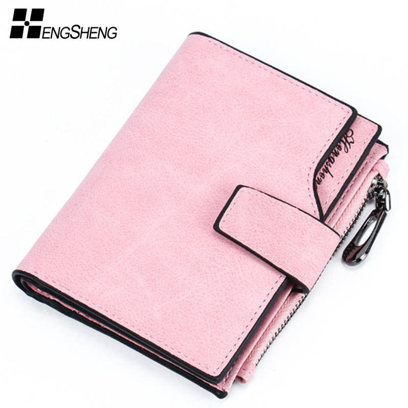 Women Wallet Fashion Lady Zipper Short Clutch Wallets Solid Vintage Matte Small Female Purse Short Purses Woman With Coin Pocket new 2016 solid women wallet zipper storage wallet brand lady purse women clutch handbags