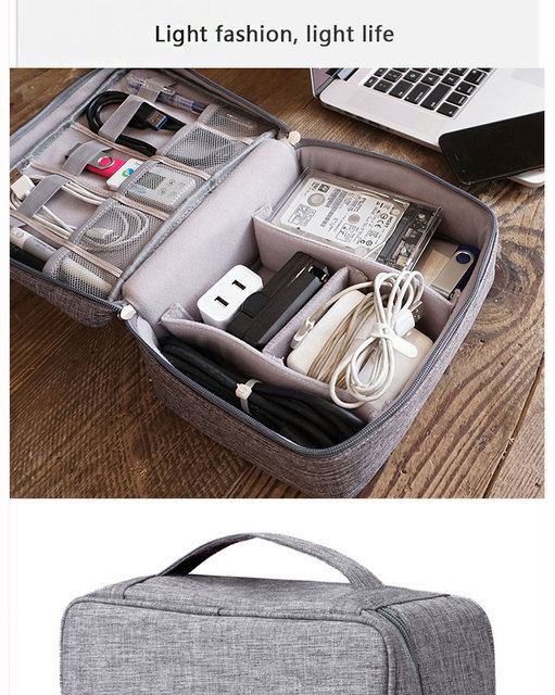 Travel accessories cable bag porta