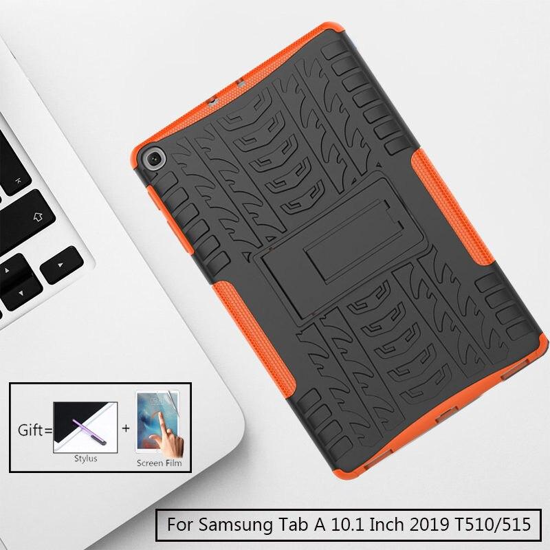 Amor Heavy Duty Silicone Rígido PC Caso À Prova de Choque Fique Tablet Capa Para Samsung Galaxy Tab 10.1 Polegada 2019 T510 /515 SM-T515