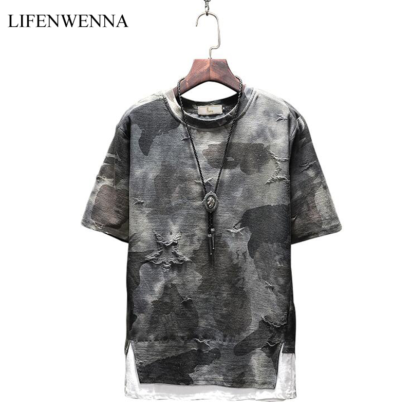 2019 New Summer Fashion   T     Shirt   Men New Style Design Print O Neck Short Sleeve Men's   T     Shirts   Casual Slim Fit Top Tees Men M-5XL