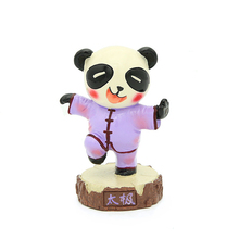 цены E-FOUR Car Panda Ornament Poly+Hand Painting Kung Fu  Panda Chinese Traditional Art Style Item Car Doll Decoration Accessories
