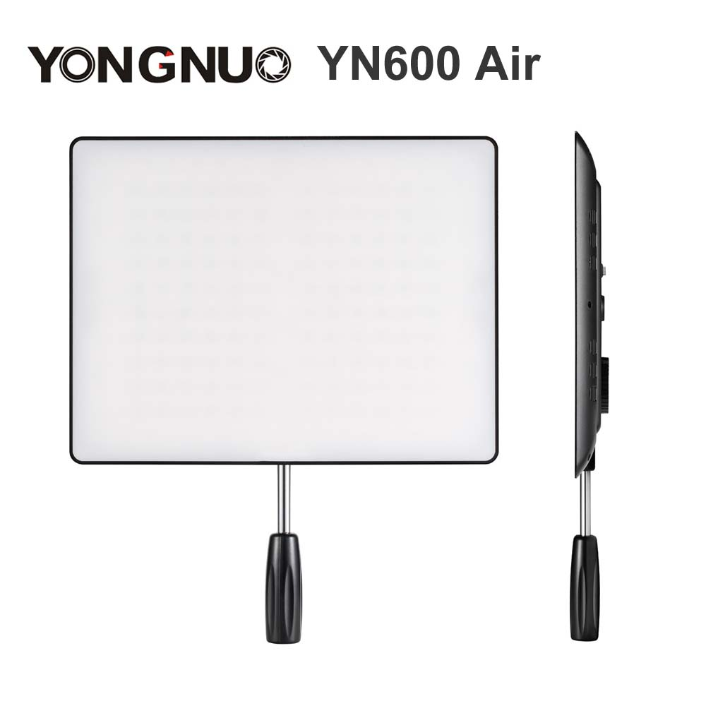 YONGNUO <font><b>YN600</b></font> <font><b>Air</b></font> Ultra Thin LED Camera Video Light Panel 3200K-5500K Bi-color Photography Studio Lighting image