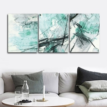 Ink Abstract Blue Wall Pictures Poster Print Canvas Painting Calligraphy Decor for Living Room Bedroom Home Frameless