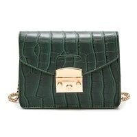 Aolida Crocodile Pattern Crossbody Bag Split Leather Women Bag New Female Bag Brand Handbag Quality Women