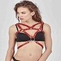 Подтяжки для женщин кожа панк жгут бдсм дизайнер ручной работы бюстгальтер ждать ремни подтяжки
