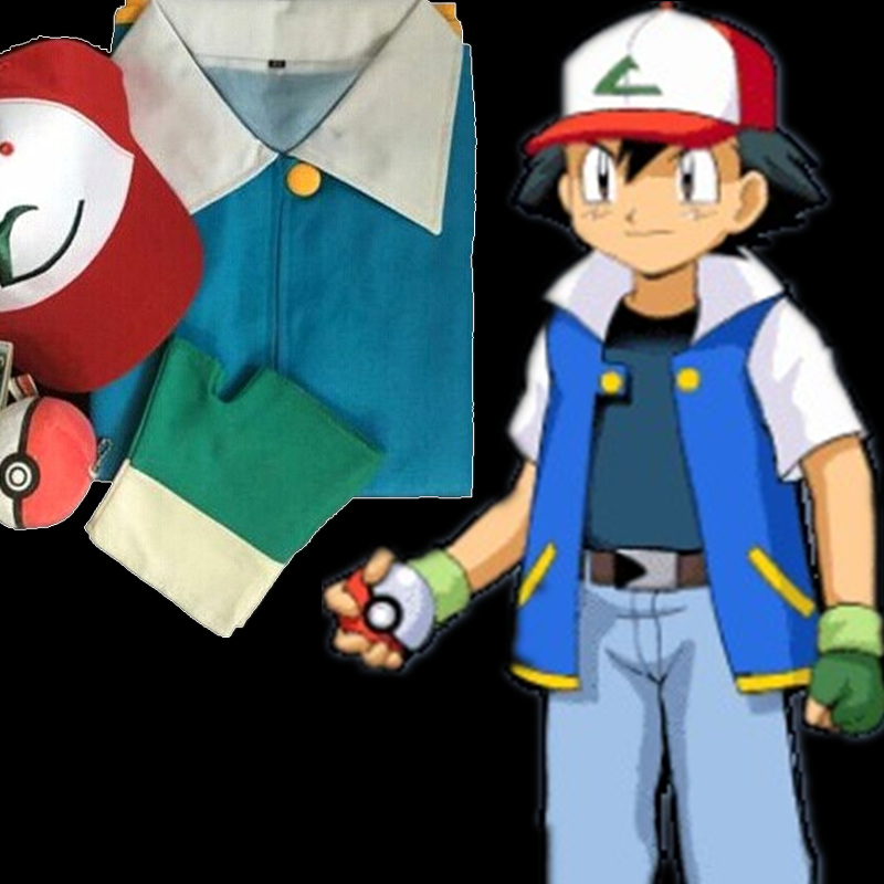 Ash Ketchum Trainer Costume Cosplay For Man and Woman Ash ketchum Costume Disfraces Superstar Town on Aliexpress.com | Alibaba Group & Ash Ketchum Trainer Costume Cosplay For Man and Woman Ash ketchum ...
