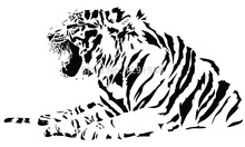 Animal Large Tiger Half Body Wall Decal Sticker Living Room wall vinyl sticker custom made home car decoration fashion Poster