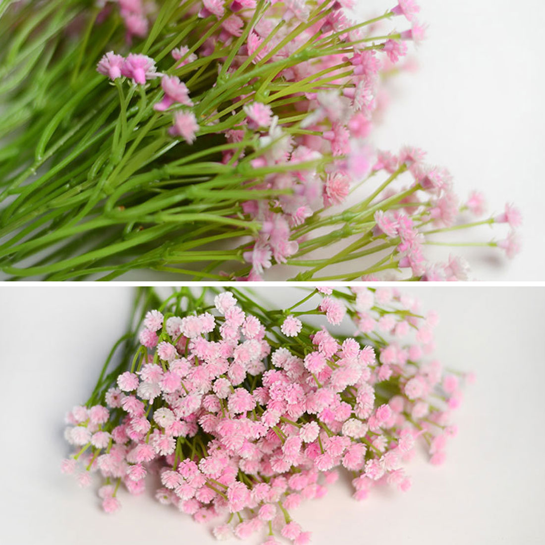 Gypsophila bouquet babysbreath silk artificial flower decoration the color may be a little different because of light effect and computer screen effect izmirmasajfo