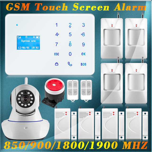Fuers A2 Wireless Wired zones Home Security Burglar GSM Alarm System ...