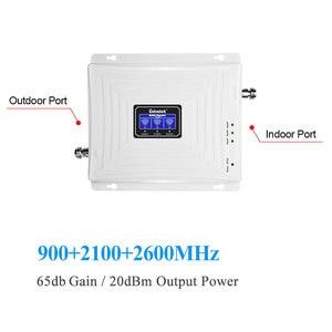 Image 3 - Lintratek nouveau Booster de Signal à trois bandes GSM 3G UMTS 4G LTE 900 2100 2600 Mhz (GSM + bande 1 + bande 7) répéteur de Signal de téléphone portable LCD @