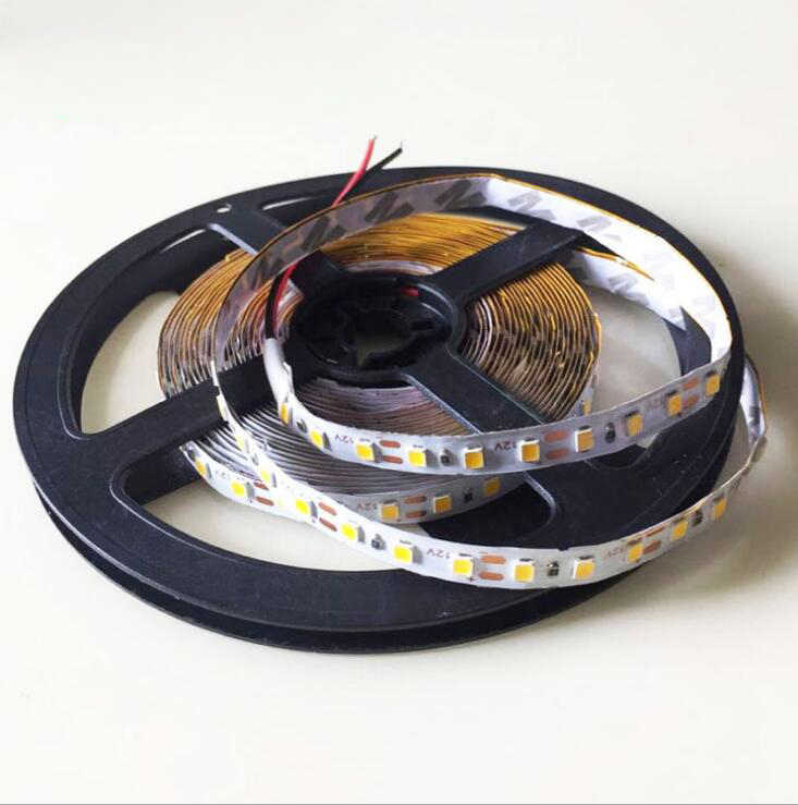 Светодиодный полосы света 5 м SMD 2835 DC12V 60 Светодиодный/м гибкий led Rope не обладает водонепроницаемостью: домашние декорации строки света более 3528 5630 Лампа