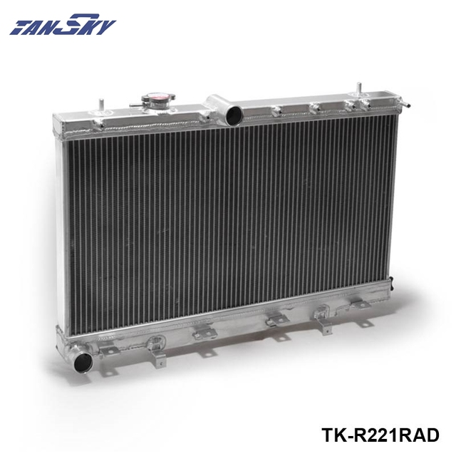 Turbo 2 Row Performance Aluminum Radiator For Subaru Impreza WRX STI GDB GD8 GD 04-07 TK-R221RAD