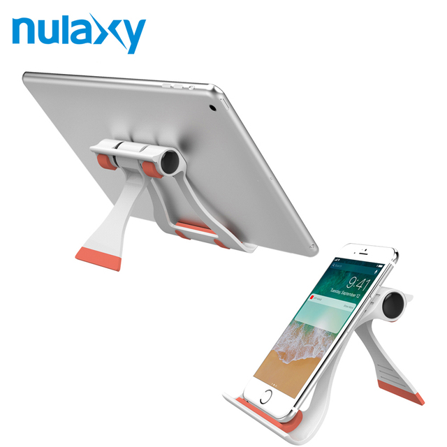 best service 9f814 0cf4a US $2.67 10% OFF|Nulaxy Universal Desk Holder For Smartphone Foldable  Mobile Phone Holder Stands For iPhone X 8 7 Tablet Plastic Desktop Mount-in  ...