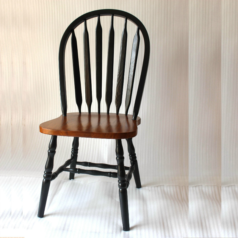 Windsor Dining Chair Solid Oak Wood Arrowback Windsor Chair Wooden