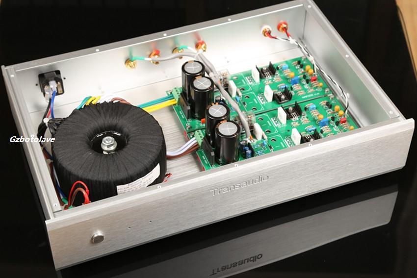 NOUVELLE copie étude NAP200 circuit Amplificateur De Puissance AMPLI 75 w * 2 (8 ohms); 150 w * 2 (4 ohms) Double canal arrière stageamplifier argent noir