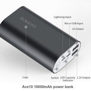 Image 3 - ROMOSS 電源銀行 10000mAh ACE10 外部バッテリーパックのアルミ合金電源銀行 A10 充電器 iphoneX Huawei 社 Xiaomi iosx