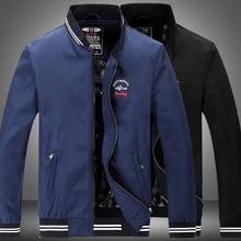 2017 marke Casual Männer Jacken Mantel Dünne Kenty & Shark jacke Oberbekleidung Mantel mode freizeit Sticken Jacken Für Männer 66508