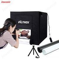 60x60x60cm Professional Photo Studio Light Tent Photography Softbox Box Kit with LED Light and Blackgrounds,White&Black CD15