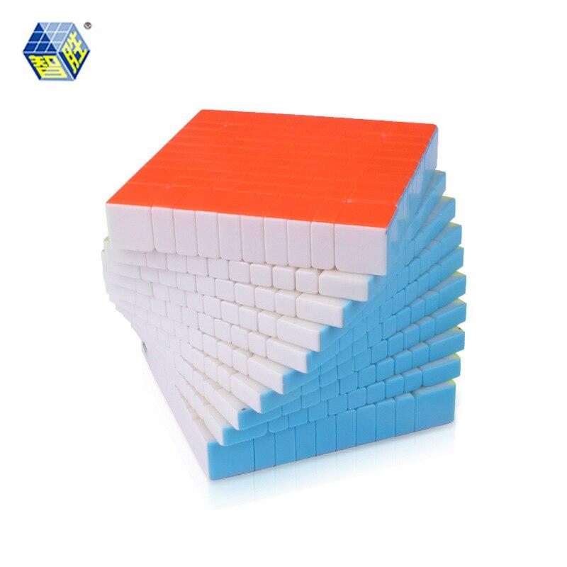 YUXIN ZHISHENG HUANGLONG Magic 10*10*10 bez naklejki Puzzle Cube zabawki edukacyjne zabawki prezenty w Magiczne kostki od Zabawki i hobby na  Grupa 1