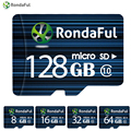 1pcs RondaFul 64GB Class 10 8GB 16GB Phone micro sd card 32GB 128GB C10 Flash TF Card Memory Card for Camera High Speed