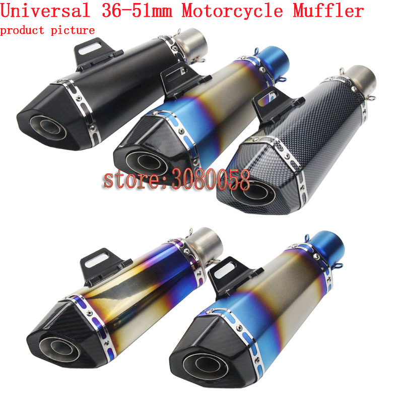 Universal Motorcycle Scooter Modified Yoshimura Muffler Exhaust Pipe For CBR 125 250 CB400 CB600 YZF FZ400 Z750 RACING