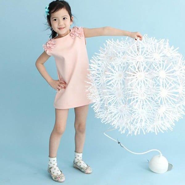 2015 Горячая Детские Малыш Обувь для девочек летнее платье без рукавов цветок плечо платье принцессы срок годности