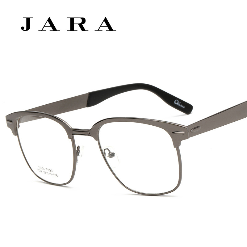 Korea Retro Steel Frame <font><b>Myopia</b></font> <font><b>Glasses</b></font> <font><b>General</b></font> Full Matel <font><b>Eye</b></font> <font><b>Glasses</b></font> Rivet Frame For Men/Women