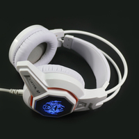 Xibter Good Sound Gaming Headset Blue Lighting PC Game Headphone With Fixed Microphone Internet Cafe Headsets