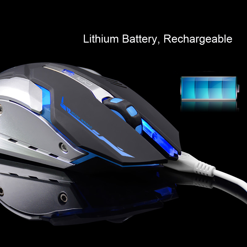 Gaming Optical Mouse USB Wireless/Wired Computer Laptop Colorful Backlit Mouse Positioning Accuracy Rechargeable Lithium Battery 2