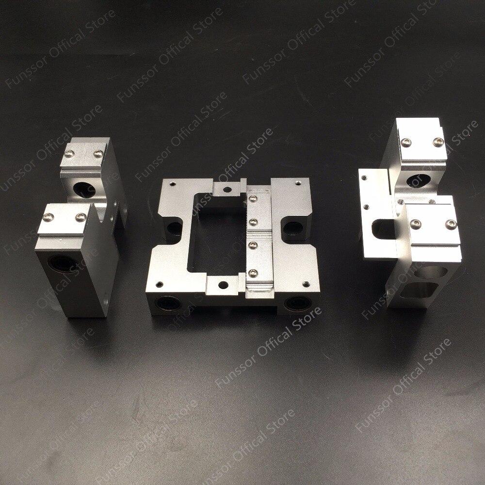 Funssor En Aluminium X axe métallique Extrudeuse Transport + Y axe transport kit Pour CTC Réplicateur Flashforge 3D imprimante Mise À Niveau