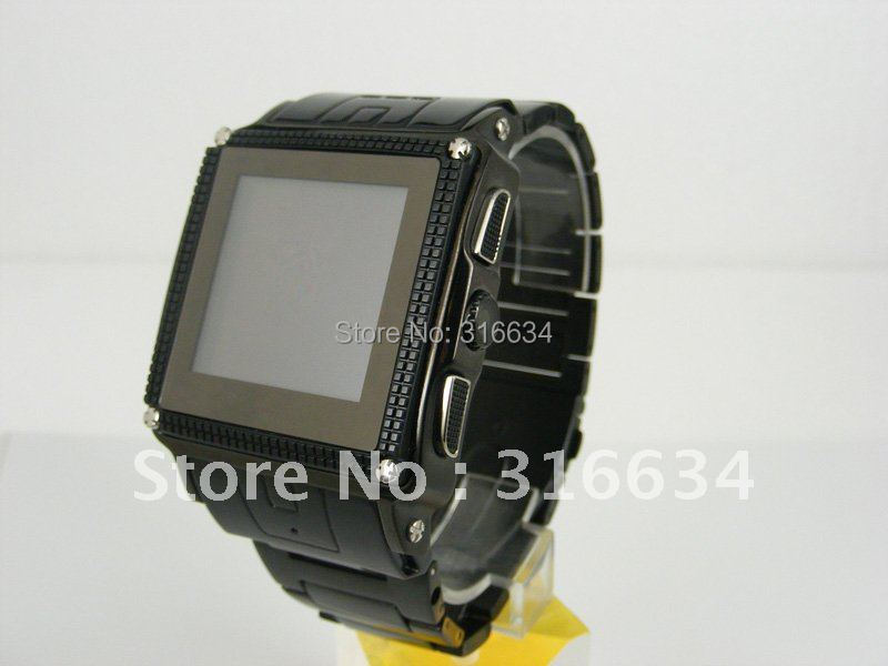 Hot! Free shipping by Netherlands Post! Quad-bands stainless waterproof Wrist watch phone W818 with camera