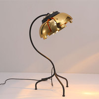 Scandinavian Iron Table Lamp Design Creative Lamps Living Room Bedroom Bed Study Individual Table Lights Gold