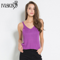 Sexy Solid Camis Women Cute Kawaii Knitted Tank Tops Sweet Slim Crop Tops Female 2017 Fashion