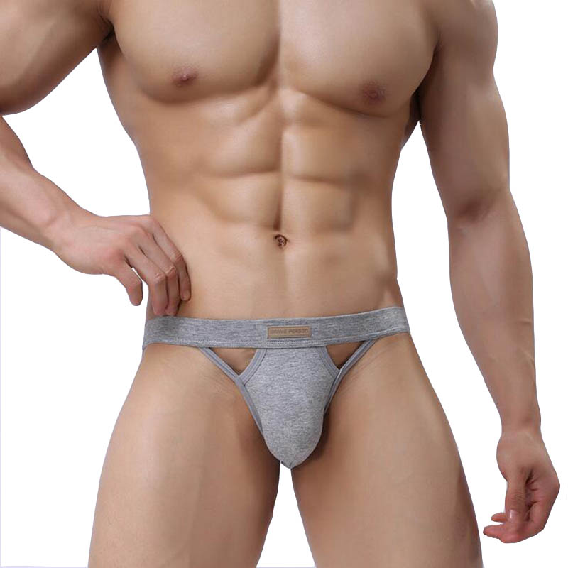 KWAN.Z Male Underwear String Homme Elastic Cotton Men Jockstrap Hollow Underwear Brand Men's Sexy Cueca Gay Underwear