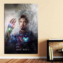 Marveles Movie Poster Watercolor Iron Man Canvas Painting Print Living Room Home Decor Modern Wall Art Pictures