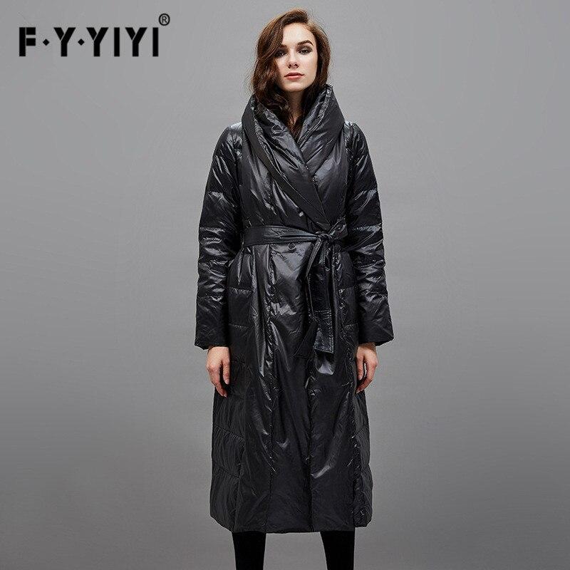Duck down Female waist down jacket Parka femme casacos de inverno feminino long down winter ladies coats large size luxury