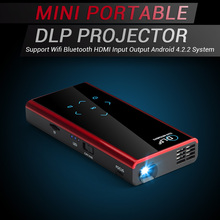 Mini DLP Projector Support Wifi Bluetooth HDMI Android 4.2.2 Compatible w/ iPhone Andorid Phone Laptop PC Mobile LED Projector