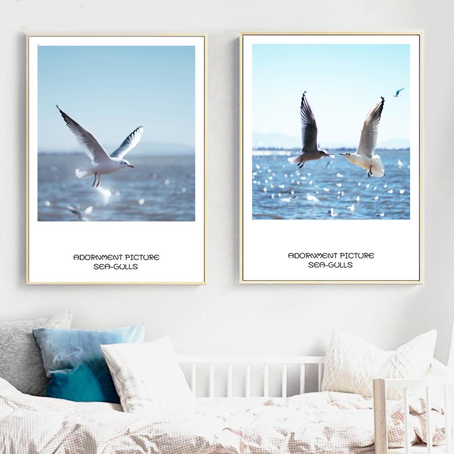 Gaivotas-7-Space-Sky-Sea-Wall-Art-Posters-E-Impress-es-Pintura-Da-Lona-N-rdico (2)