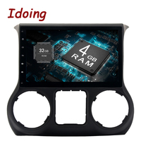 Idoing 1Din Android 8.0 For Jeep Wrangler 2011 2016 Car Android Player GPS Navigation 10.28Core 4G+32G Steering Wheel Fast Boot