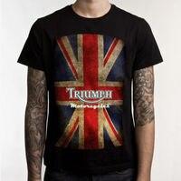 Triumph Motorcycle Biker Custom Mens Tee 100 Cotton Short Sleeve Print T Shirt T Shirt Black