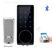 Смартфон Bluetooth Замок Bluetooth Смарт-Электронный Дверной Замок ПРИЛОЖЕНИЕ, код, Deadbolt For Hotel and Apartment L & S L16076BSAP